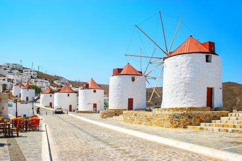 Whitewashed windmills