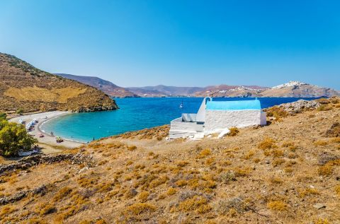 The small chapel of Agios Konstantinos, overlooking the sea