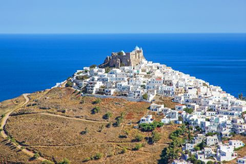 The houses of Astypalaia, built on a high hill