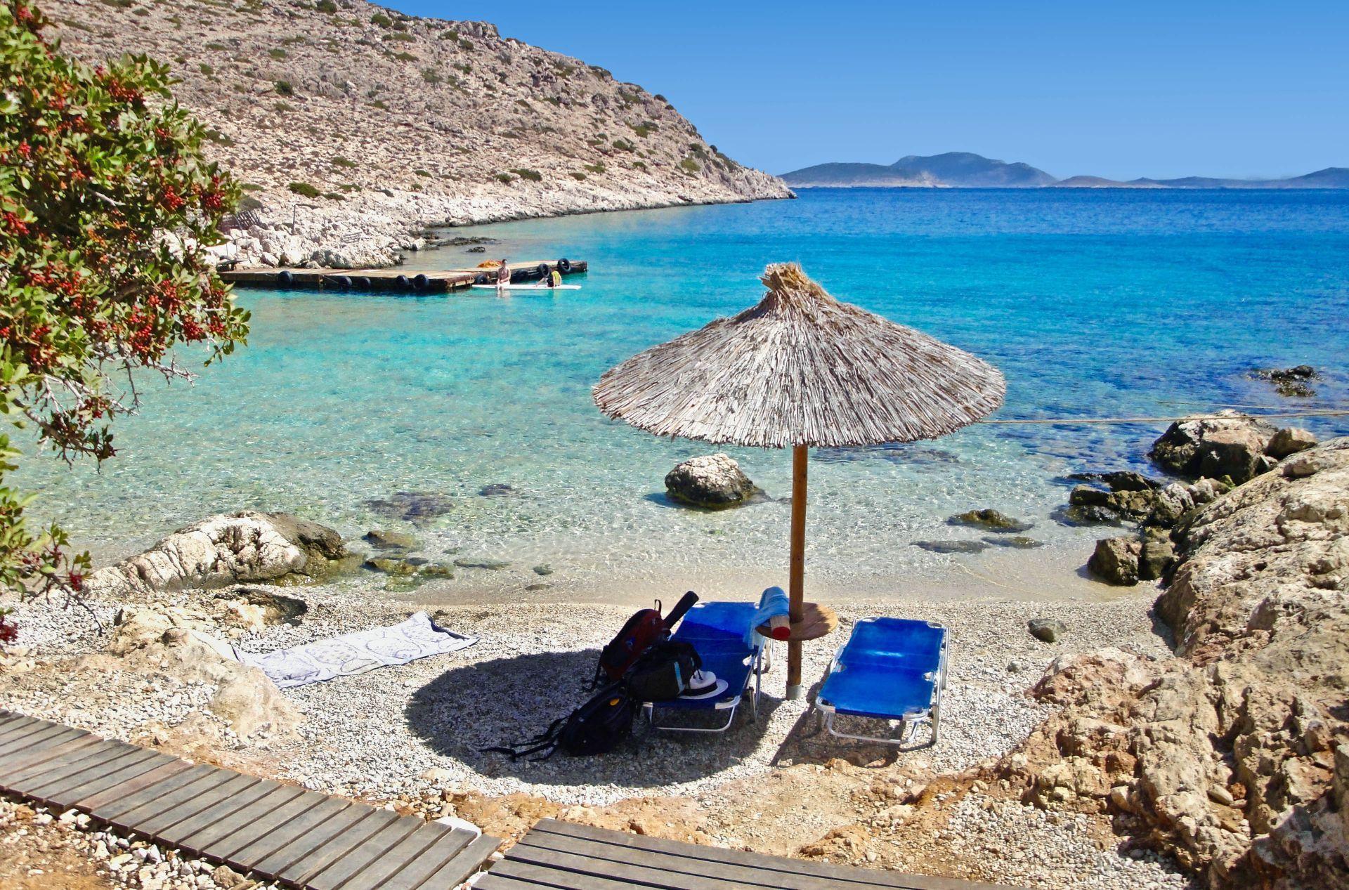 Halki island: Kania Beach