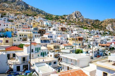 View of Menetes village, Karpathos.