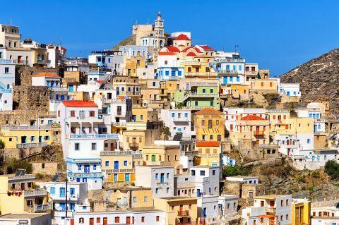 View of Olympos village, Karpathos.