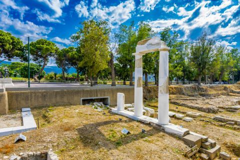 The ruins of Dionysos Temple