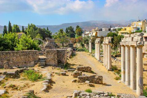 Remains of the Ancient Town of Kos.