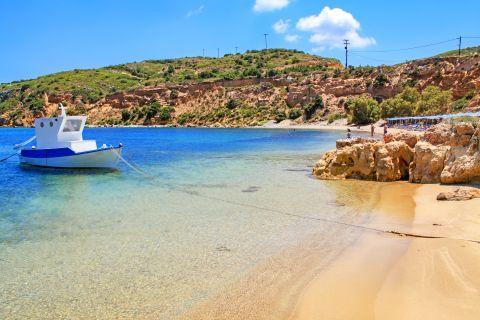 Lovely, sandy shore. Limionas beach, Kos.