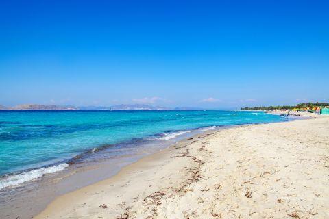 Soft sand and azure waters. Marmari beach, Kos.