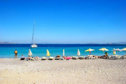 An organized spot on Kamari beach.