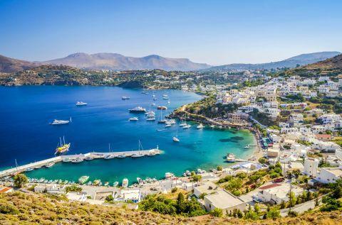 Panoramic view of Leros Town