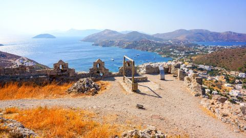 On the Medieval Castle of Leros in Pandeli.