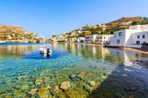 Crystal clear waters. Agia Marina, Leros.