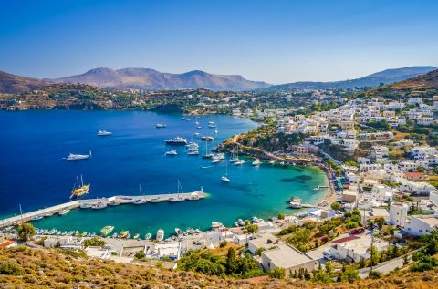 View of Leros Town from the Medieval Castle.