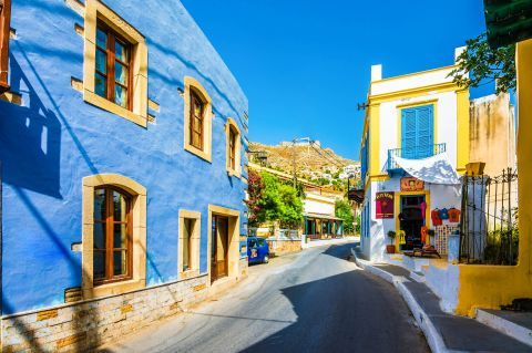 Picturesque houses in Agia Marina Village