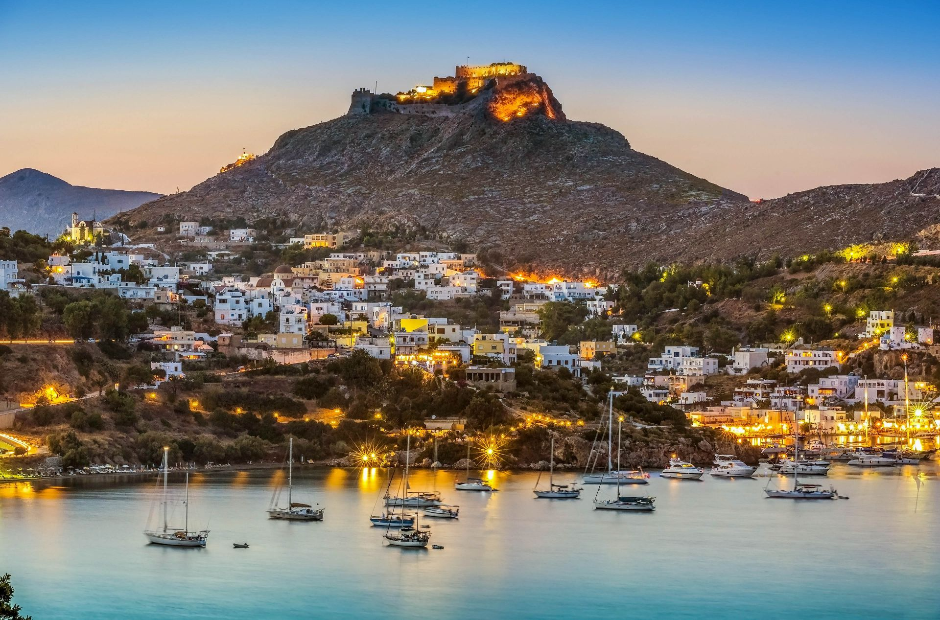 Leros island: Platanos