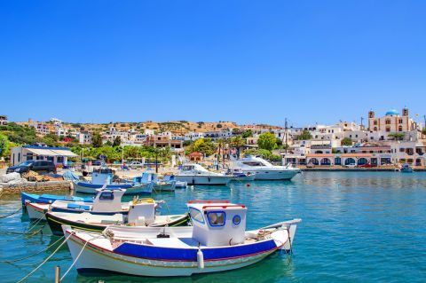 Fishing boats on the harbor of Lipsi