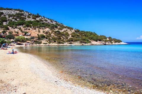 Platis Gialos beach, Lipsi.