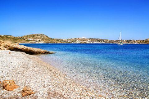 Elena beach, Lipsi.
