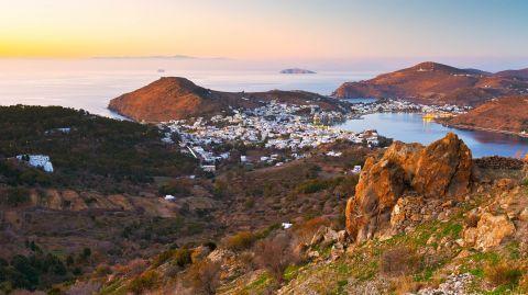 An amazing landscape of Patmos