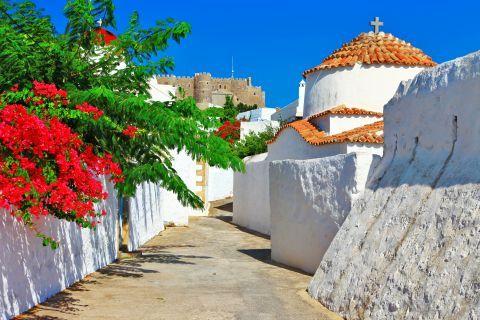 Exploring the beautiful corners of Patmos.