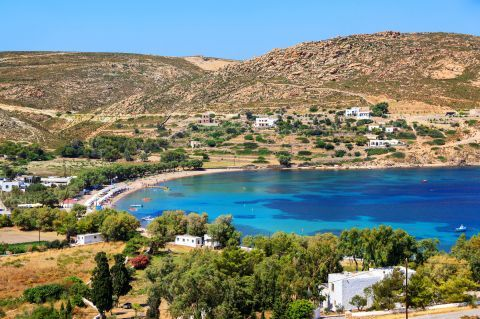 View of Meli beach.