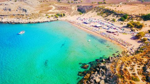 Agathi beach, Rhodes.