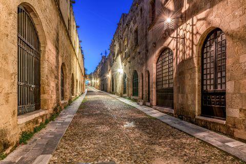 Knights street. Rhodes Old Town.