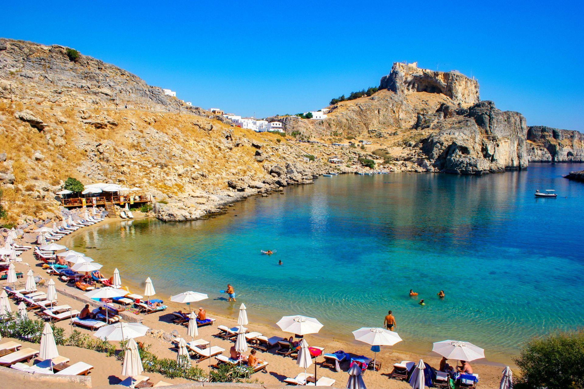 Rhodes island: Lindos beach