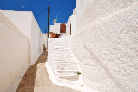 A picturesque, whitewashed house in Tilos