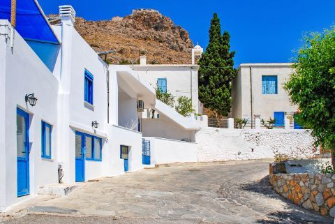 Traditional houses in Megalo Chorio village