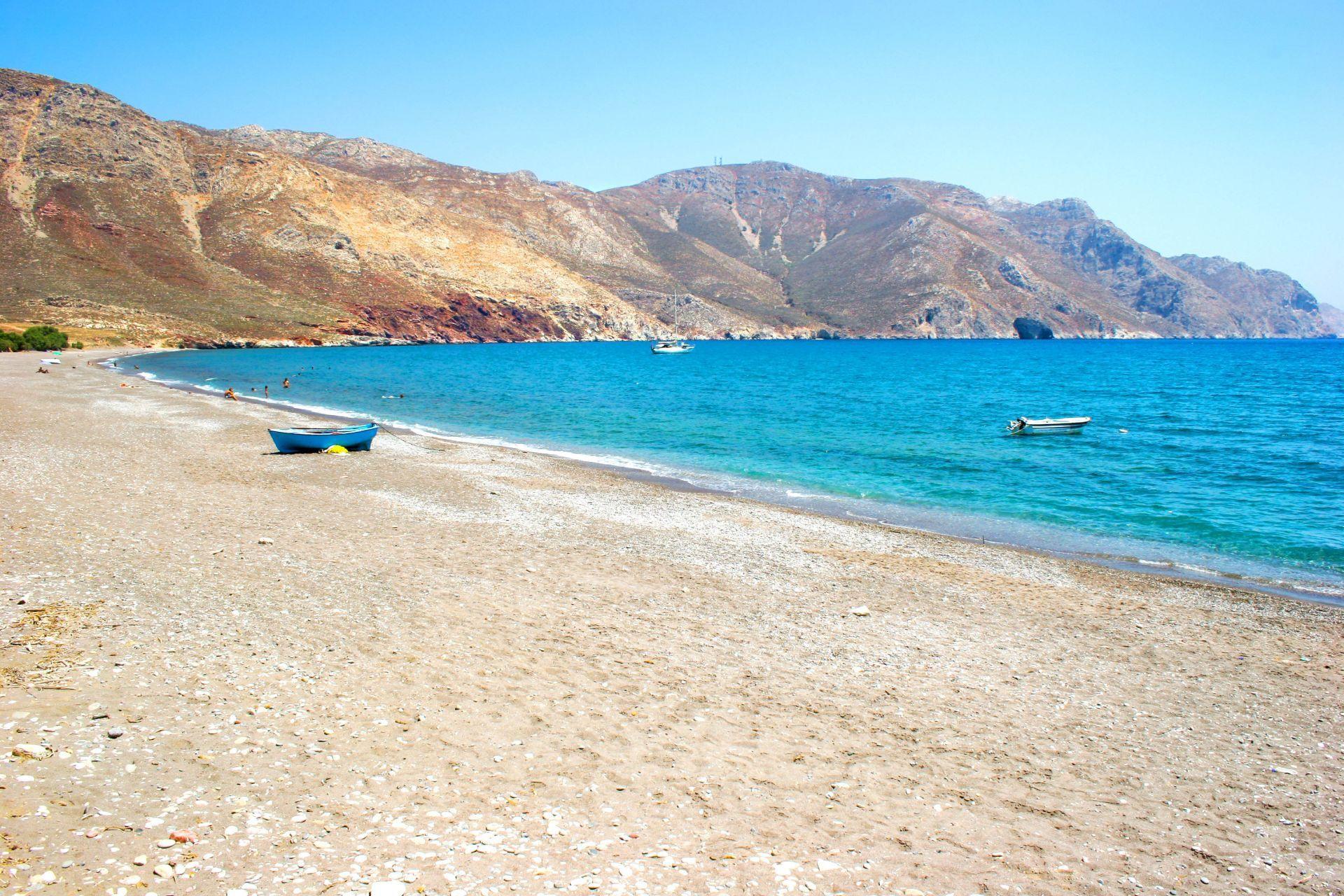 Tilos island: Eristos Beach