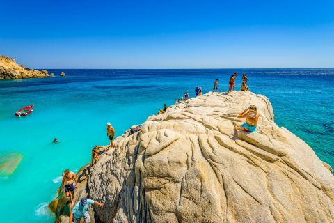 Seychelles beach, one of the most popular destinations in Ikaria.