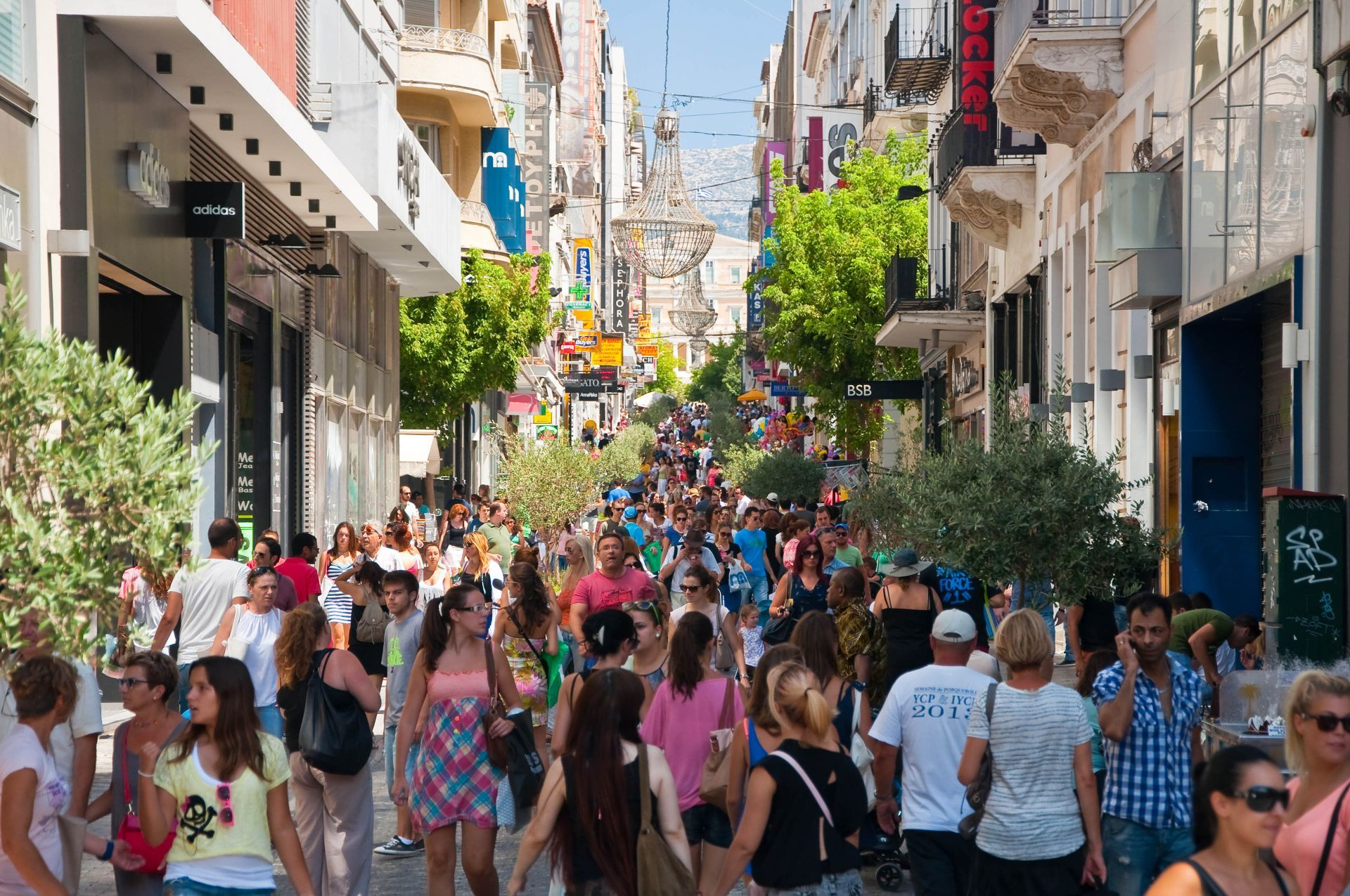 Greece shopping: Ermou street in Athens