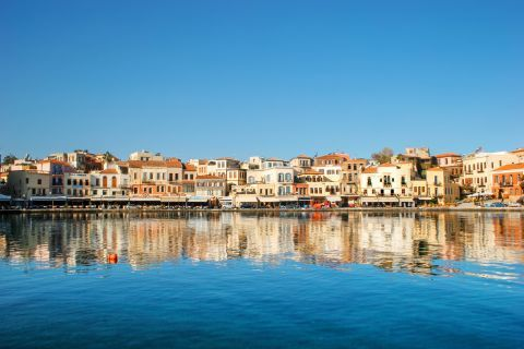 Panoramic view of the Town in Chania, Crete
