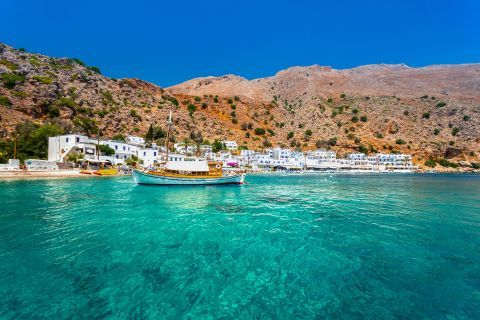 Photo of Loutro village in Chania, Crete