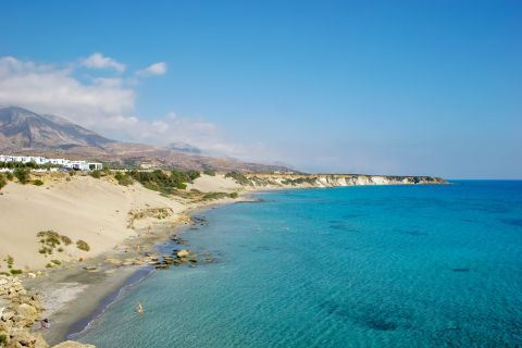 Orthi AMmos beach in Chania, Crete