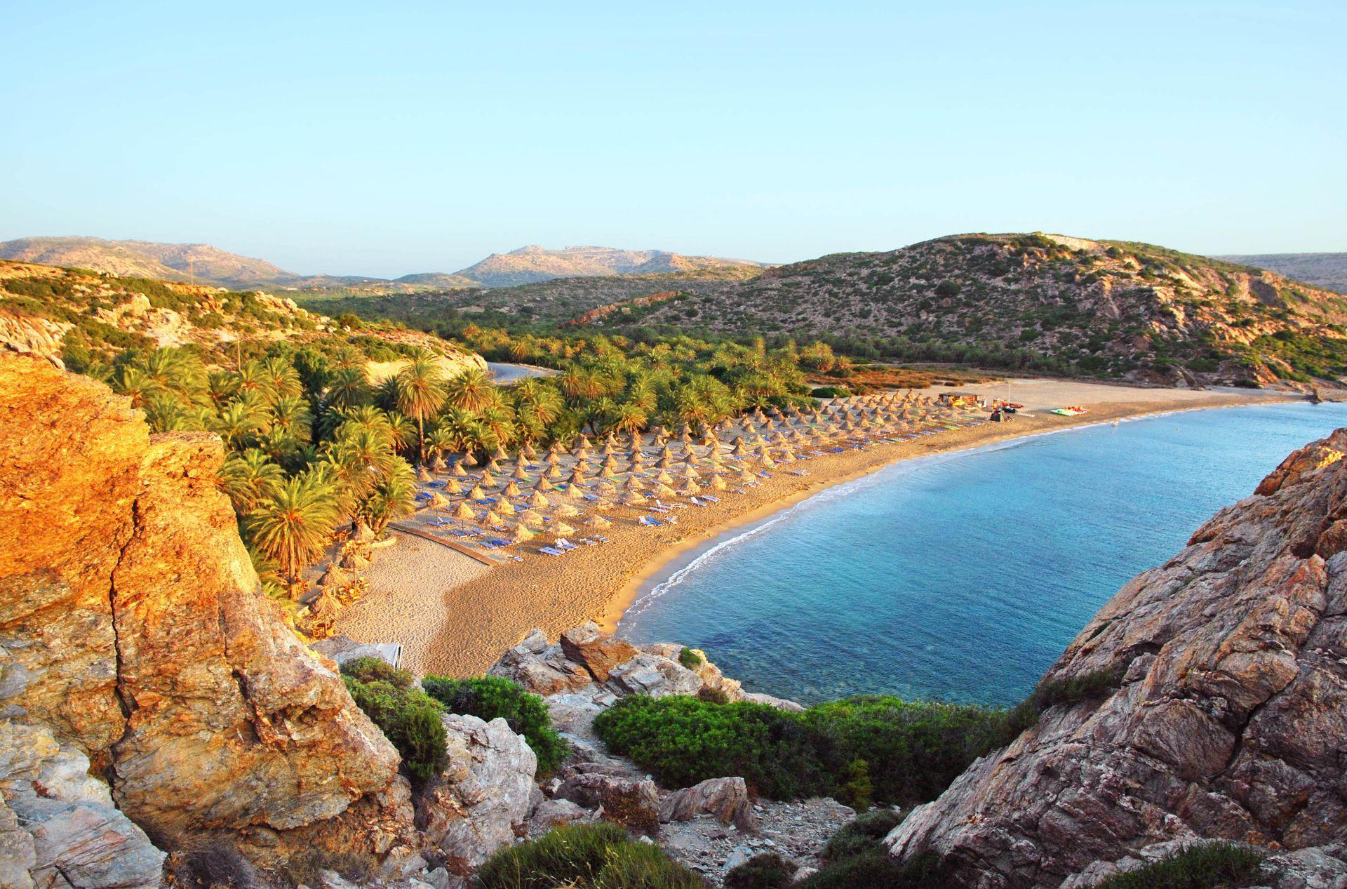 Crete Island: Vai beach in Lassithi, Crete