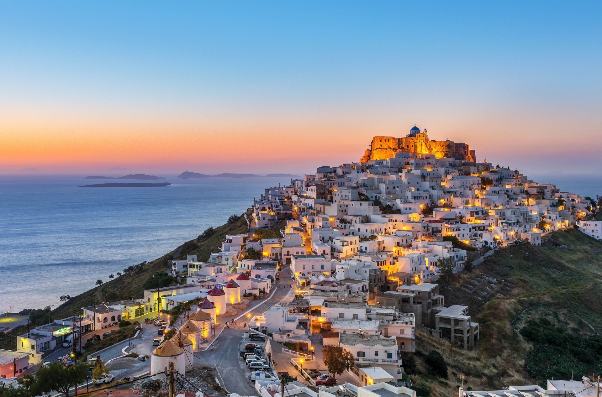 Dodecanese islands: Chora, the main town of Astypalea island