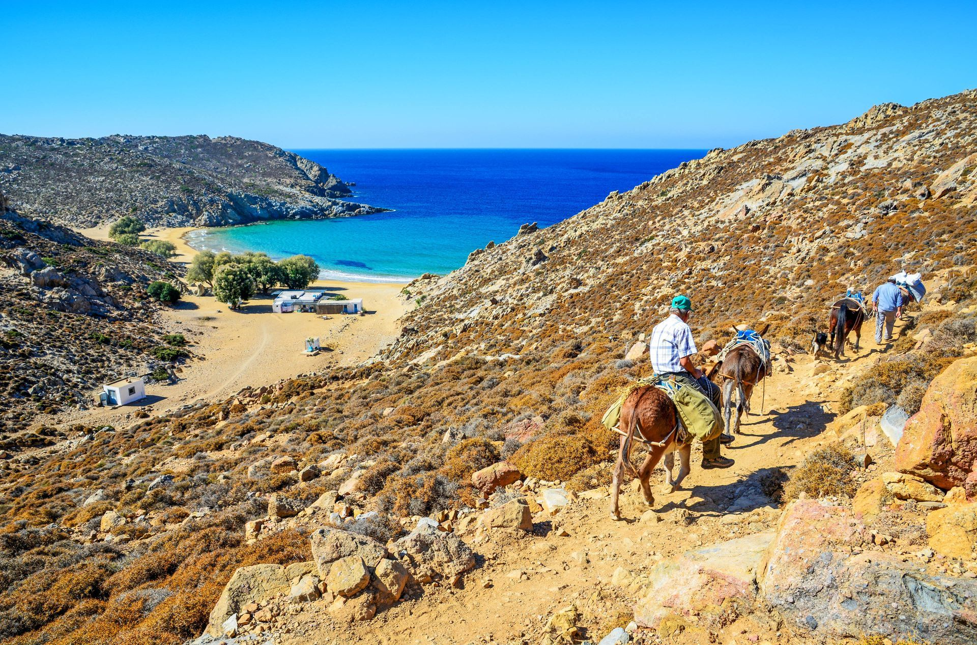 Dodecanese islands: Psili Ammos on Patmos island