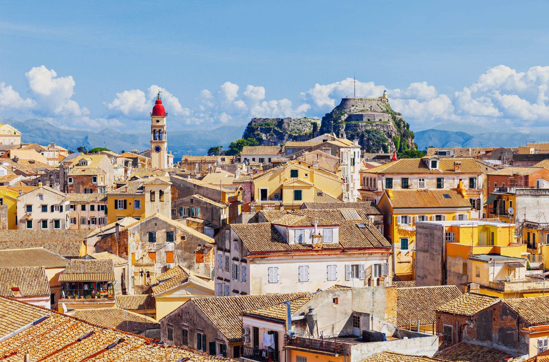 Ionian islands: The main town of Corfu Island
