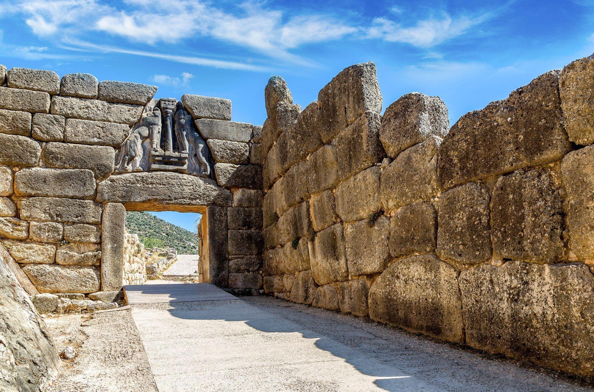 Peloponnese: The Lion Gate in Mycenae