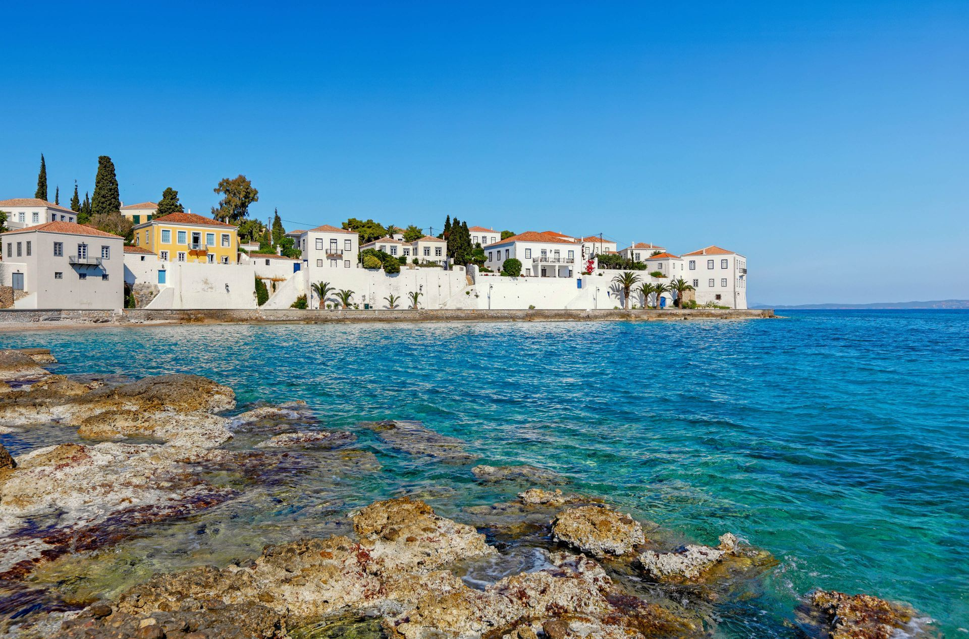 Saronic islands: The town of Spetses island