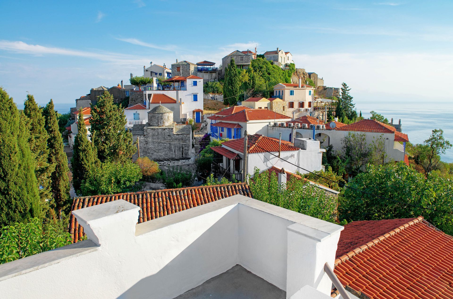 Sporades islands: Chora, the old town of Alonissos island