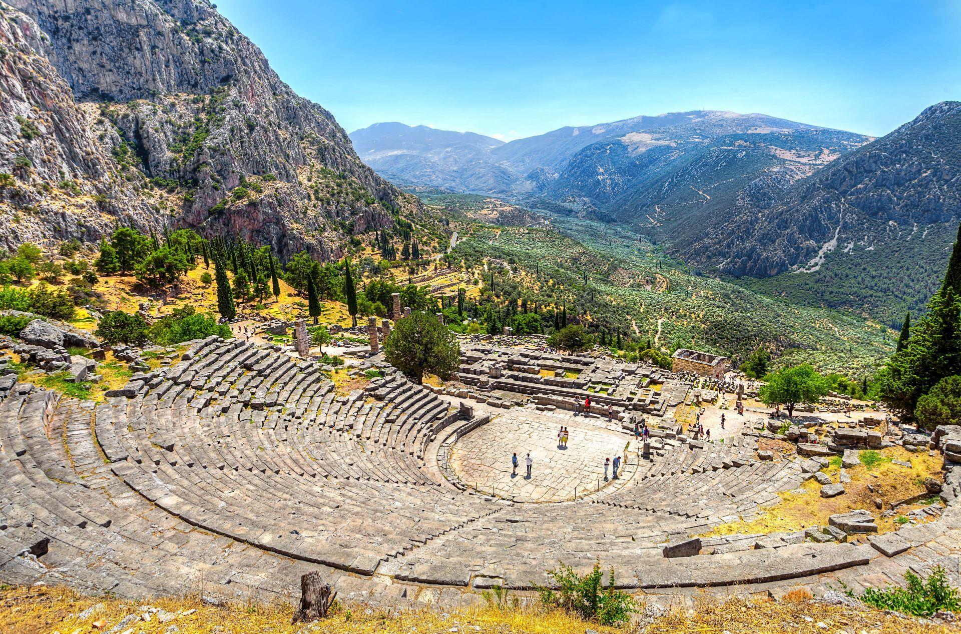 Sterea Greece: The ancient theatre of Delphi