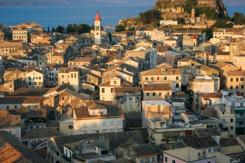 Traditional houses of Corfu.