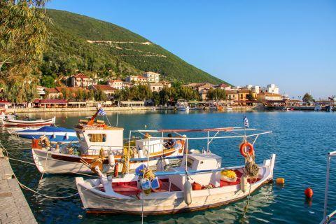 Fishing boats. Vassiliki bay, Lefkada.