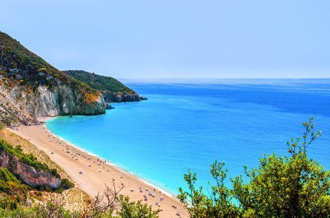 Wonderful sea view. Milos beach, Lefkada.