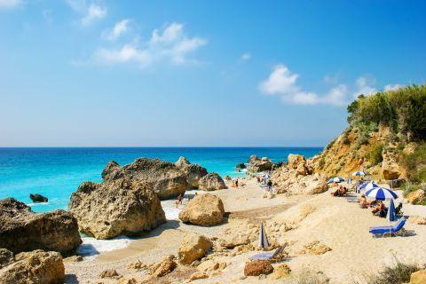Megali Petra beach, Lefkada.