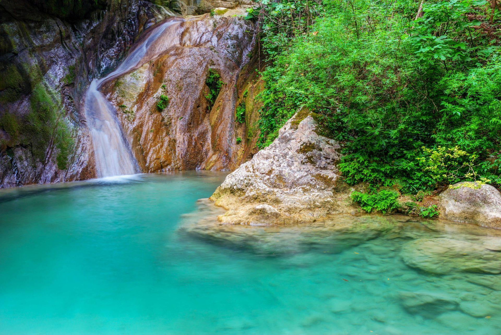 Lefkada island: Nidri Waterfalls