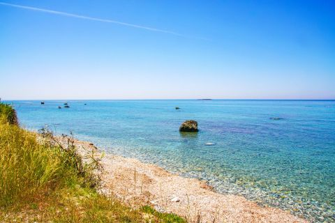 Crystal clear waters and impressive sea view, Agouridi beach
