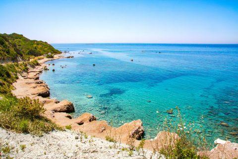 Azure waters in Apidies beach