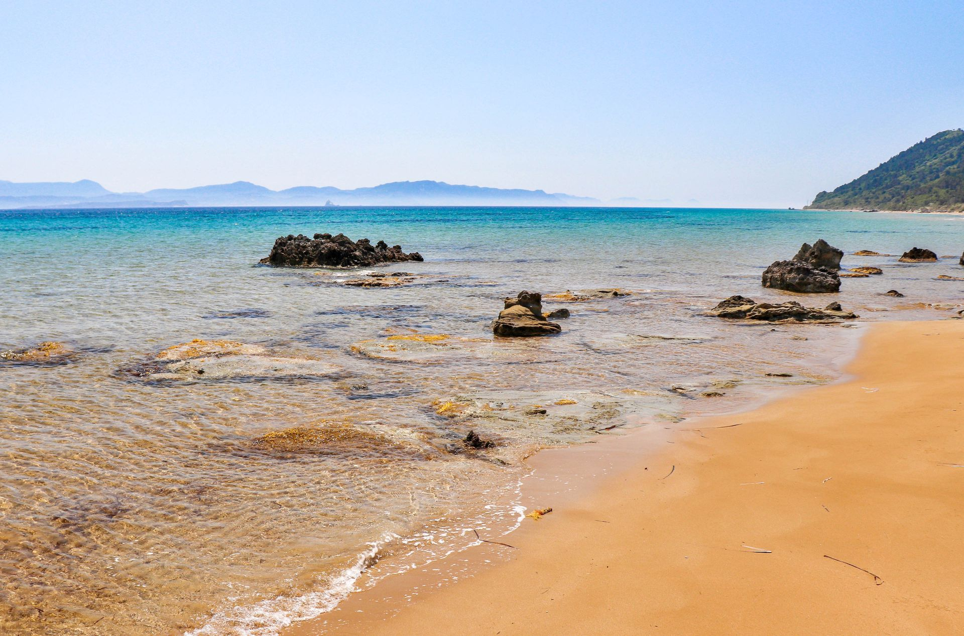 Mathraki island: Beaches